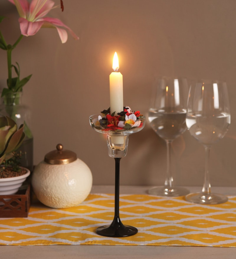 Silver Metal Flamingo with Flower Candle Holder by Pasabahce