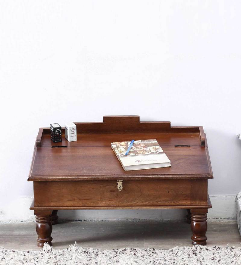 Pathana Writing Desk in Provincial Teak Finish by Mudramark