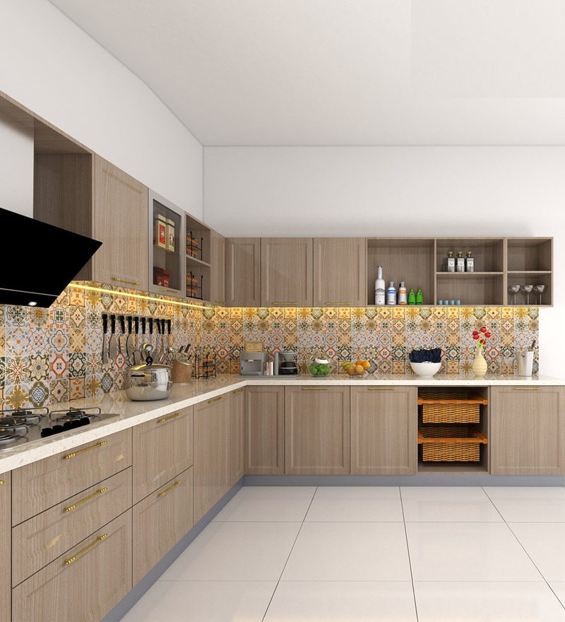U Shaped Modular Kitchen: Buy Patrick U-Shaped Modular Kitchen Designed In MDF With