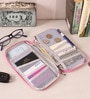 Packnbuy Fabric Light Pink Long Travel Passport Organiser