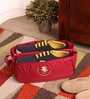 Packnbuy Nylon Red Travel Partition Shoe Bag