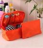 Orange Fabric 10.3 x 6.5 x 0.7 Inch Travel Innerwear Organizer by PackNBUY