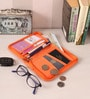 Packnbuy Fabric Orange Travel Passport Organiser