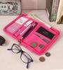 Packnbuy Fabric Pink Travel Passport Organiser