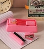 Packnbuy Plastic Pink Stationary Set