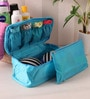 Fabric Blue Travel Innerwear Organiser by PackNBUY