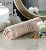 Pannaa Beige Cotton 28 x 59 Inch Bath Towel