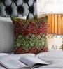 Pannaa Multicolour Cotton 16 x 16 Inch Embroidered Cushion Cover