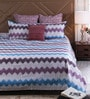 Pannaa Multicolour Cotton Queen Size Bed sheet - Set of 3