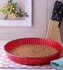 Pasabahce Ovenware Red Stainless Steel Round Tray