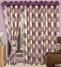 Cortina Precious Multicolour Polyester Eyelet Window Curtain- Set of 2