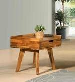 Pessora End Table in Natural Finish
