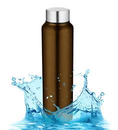 Pexpo Chromo Series Ideale Brown Stainless Steel 1 L Elegant Water Bottle