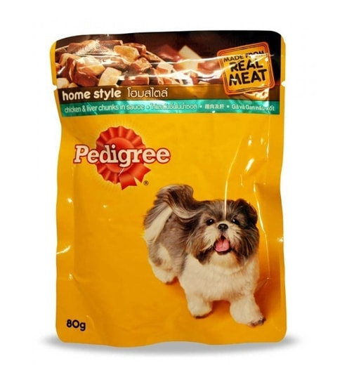 Pedigree Chicken Liver Chunks Pouch 80g Pack Of 12 By Pedigree