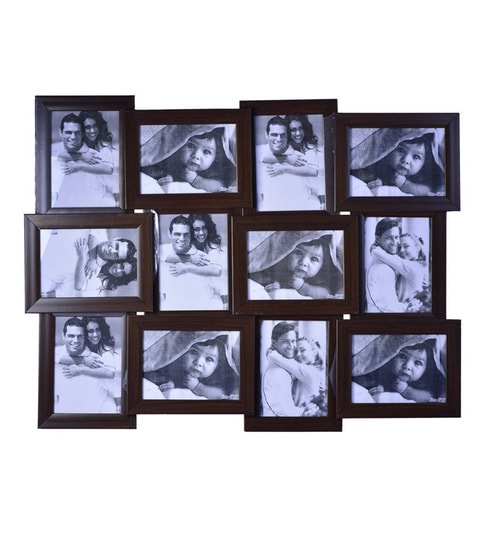 pebbleyard 12 picture brown collage photo frame 5 inch x 7 inch