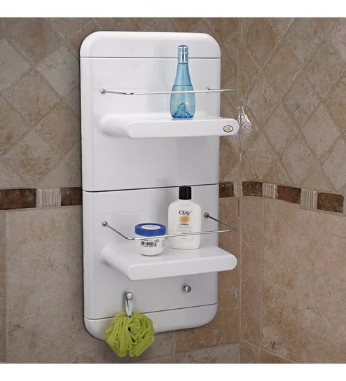 Upasana White Bathroom Shelf