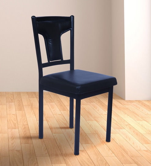 Prime Pelli Fix Metal Chair In Black Leatherete By Confortofurnishing Caraccident5 Cool Chair Designs And Ideas Caraccident5Info