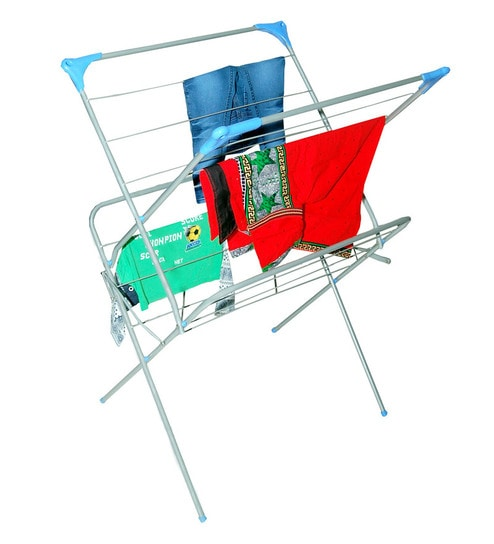 Steel Floor Mounted Clothes Drying Rack (Length: 25 Inches)