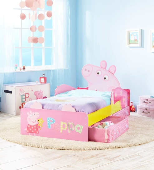 super cute 15a84 74ecd Peppa Pig Toddler Bed with Under Bed Storage in Pink by Cot & Candy