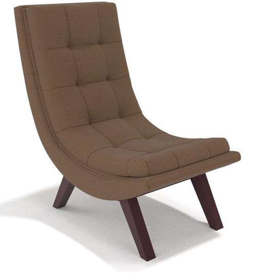 Surprising Petosky Accent Chair In Brown Colour By Casacraft Gamerscity Chair Design For Home Gamerscityorg