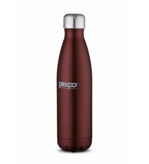 Pexpo Ideale Electro Cola Red Wine Stainless Steel 500 ML Vacuum Insulated Bottle With Jute Bag