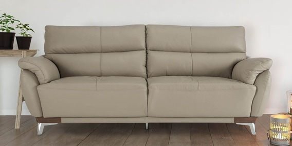buy perry three seater sofa in beige colour by durian online three