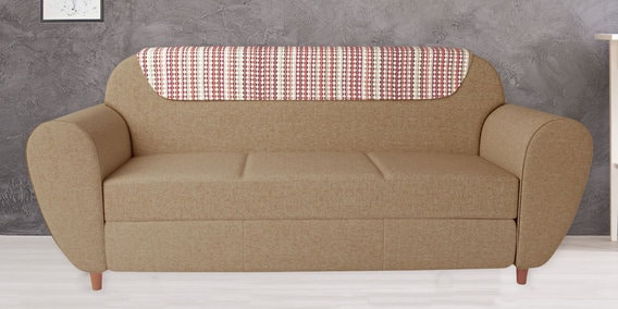 Petal Three Seater Sofa in Sand Beige Color