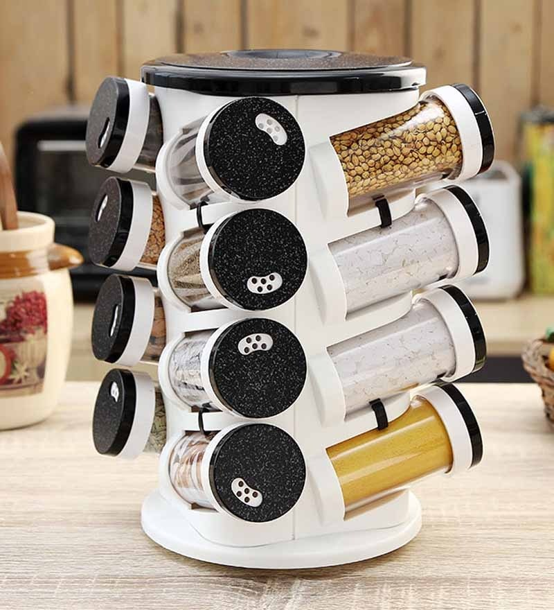 Jvs Majestic Black 100 ML (Each) Spice Rack - Set of 16