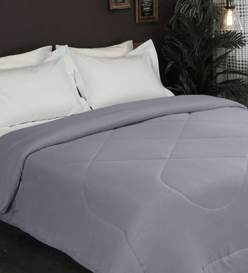 5a5fb0587f90 Buy Pedro 225 TC Microfibre Queen Size Comforter in Dark Grey Color ...