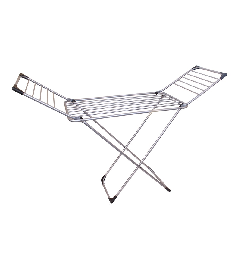 Peng Essentials Chrona Steel Black & Silver Cloth Drying Stand