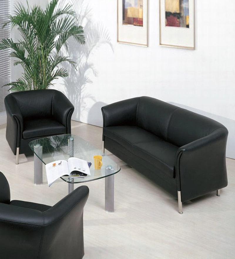 Online Sofas: Pewrex Columbia Office Sofa Set (2+1+1-Seater) By Pewrex