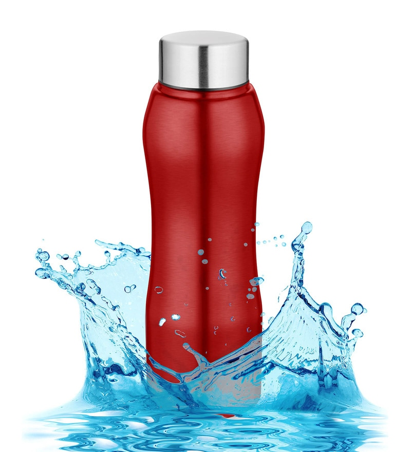 Pexpo Bistro Ideale Trendy Red Stainless Steel 750 ML Sipper Cum Fridge Bottle
