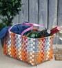 Peacock Life Small Plastic Multicolour Basket