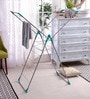 Peng Essentials Steel White & Green Naples Cloth Drying Stand