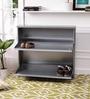 Peng Essentials Superwide Iron Silver 2 Shelves Shoe Rack