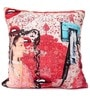 Multicolour Poly Velvet 16 x 16 Inch Lips Cushion Cover by Per Inch