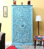 Phoenix Wardrobe in Blue Distress Finish