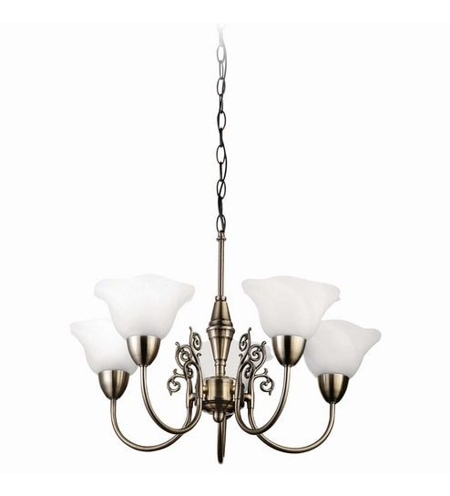 Buy philips 3793206 5 decorative ceiling light online chandeliers bronze metal and glass chandelier by philips aloadofball Image collections