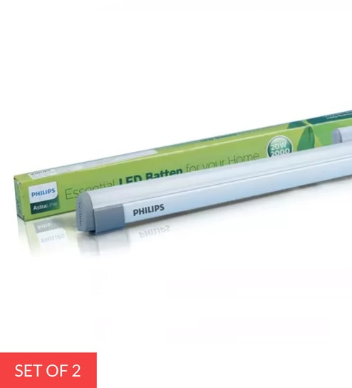 20 Watt Cool Day Light LED Batten, Set of 2 by Philips