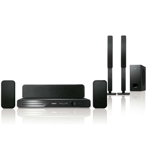 da254d296 Buy Philips Black 600W 5.1Ch DVD Home Theatre System (Model No  HTS3366-98)  Online - Audio   Video System - Audio   Video System - Pepperfry