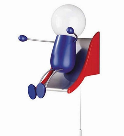 kidsplace happy kid lamp in blue red colour by philips