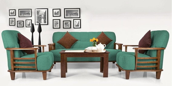 Phoenix Sofa Set 3 1 Seater In Teal Colour By Vive