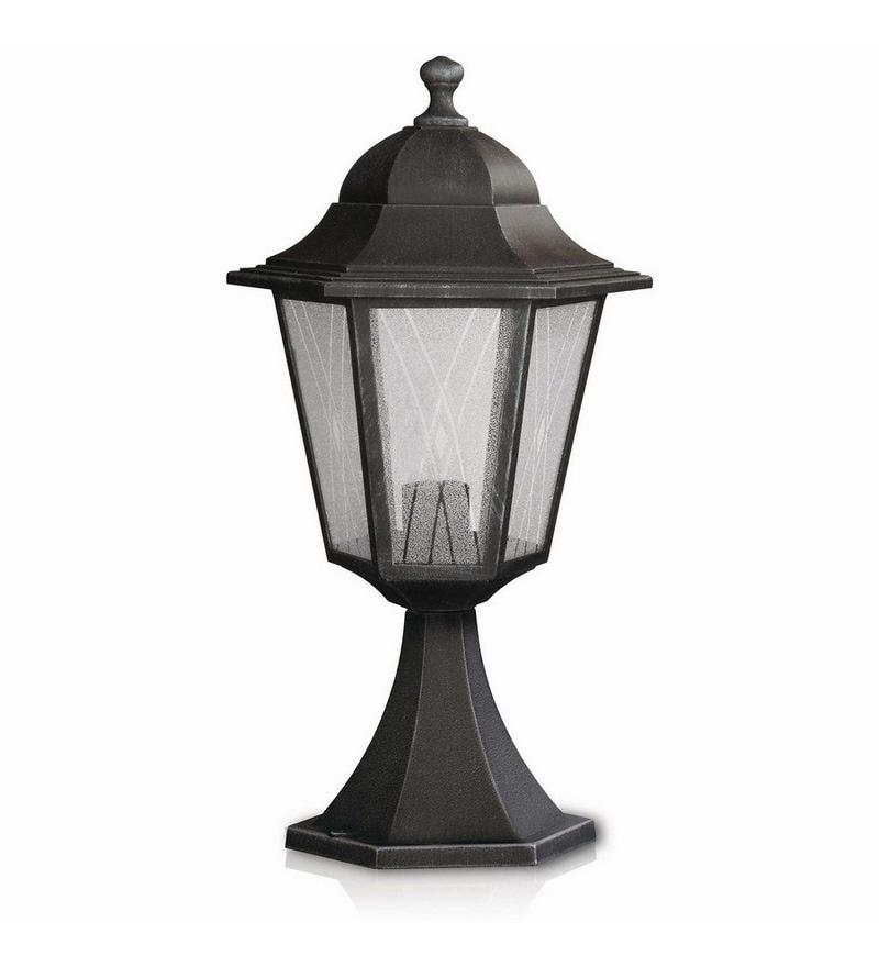 Buy Hornbaek Outdoor Pedestal Lantern By Elstead Lighting: Buy Philips 15332_54 Black Post Lamp Online