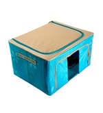 Foldable Fabric Aqua 55 L Clothes Organizers with Steel Frame