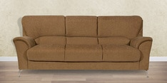 Piper Three Seater Fabric Sofa in Brown Colour