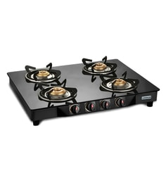 Pigeon Brass 4 Burner Gas Stove at pepperfry