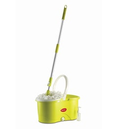 Pigeon Plastic Green Spin Mop With 2 Refills