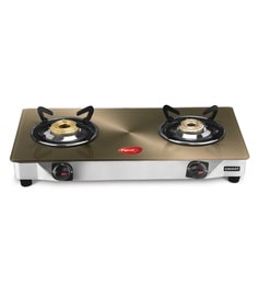 Pigeon Smart Plus Toughened Glass 2 Burner Gas Stove - 1578604