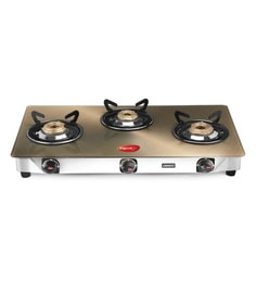 Pigeon Smart Plus Toughened Glass 3 Burner Gas Stove