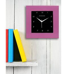 Pink MDF 12 X 12 Inch Square Wall Clock
